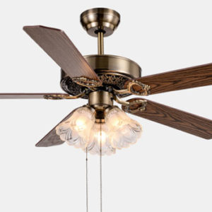 52 inch dc inverter decorative Ceiling Fans Lights With Remote