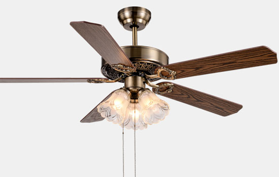 52 Inch Dc Inverter Decorative Ceiling Fans Lights With