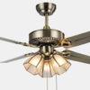 Antique brass ceiling fan with 3 lights metal blade European ceiling fans