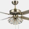 Antique brass ceiling fan with 3 lights metal blade European ceiling fans1