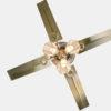 Antique brass ceiling fan with 3 lights metal blade European ceiling fans2