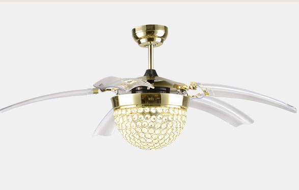 Crystal decorative remote ceiling fans