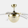 Crystal decorative remote ceiling fans1