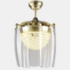 Crystal decorative remote ceiling fans2