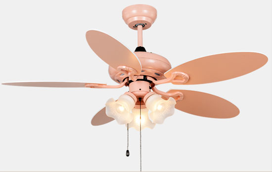 Decorative led ceiling fans for kids with remote control and popular pull lights