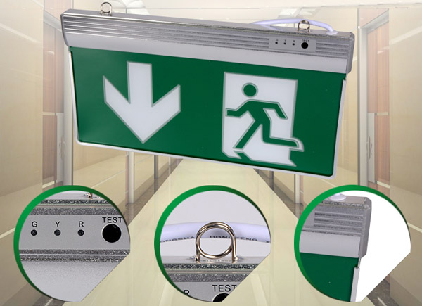 Detail of Emergency exit sign board emergency Led Exit Lights1