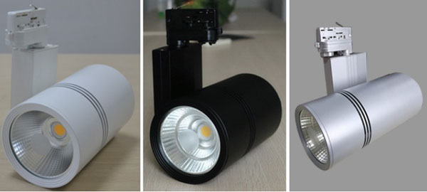Diverse view of Track lighting system dimmable 10W 20W 30W 40W 50W COB led track lights