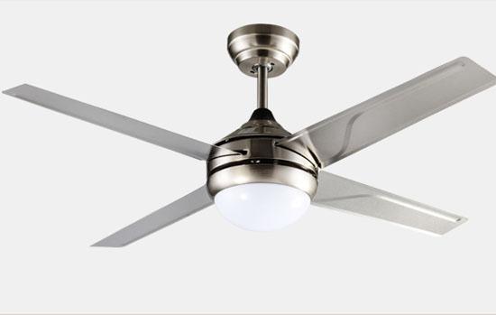 Elegant design decorative Matt Sliver ceiling fan Lights