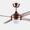 Elegant design decorative Matt Sliver ceiling fan Lights2