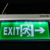 Emergency exit sign board emergency Led Exit Lights