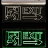 Emergency exit sign board emergency Led Exit Lights1