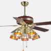 Fashion antique Luxurious ceiling fans remote control with led lights2