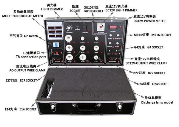 LG-640-8P LG-640-12P LG-640-14P Aluminum main stream led demo with Built in multi-function DC&AC Meter