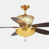 Modern style dc motor ceiling fan light for home decoration