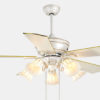 Plywood decorative house ceiling fan lamp with 5 lights for decoration