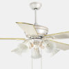 Plywood decorative house ceiling fan lamp with 5 lights for decoration1