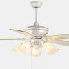 Plywood decorative house ceiling fan lamp with 5 lights for decoration2