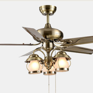Unique modern 42 inch 5 steel blades ceiling fan lights