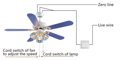 analytice of wiring for High quality multi-function decorative elegant style led ceiling fans2