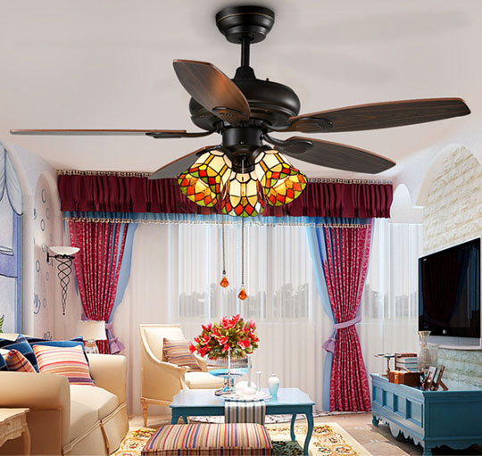 application of 42' decoration light weight Classical ceiling fans lights