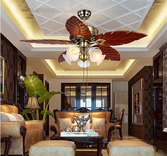 application of 48 inch decorative design Luxurious ceiling fans lamp