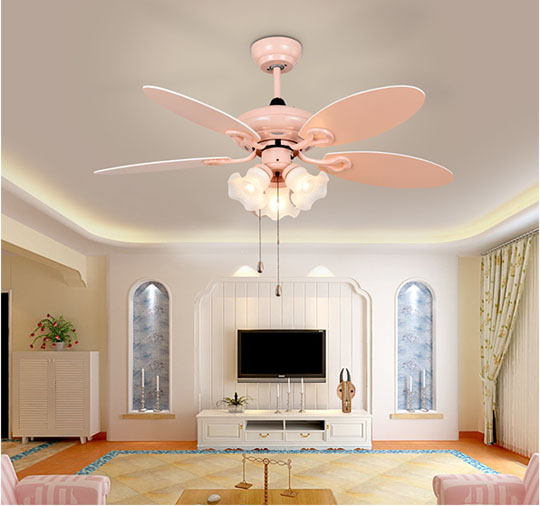 application of Decorative led ceiling fans for kids with remote control and popular pull lights