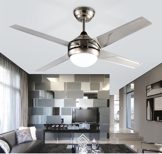 application of Elegant design decorative Matt Sliver ceiling fan Lights