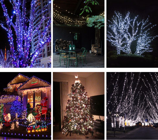 application of Mg-Saline Water Xmas LED String Lights operated led string twinkle lights for holiday lighting decoration