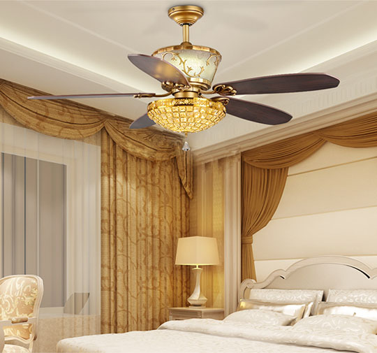 application of Modern style dc motor ceiling fan light for home decoration
