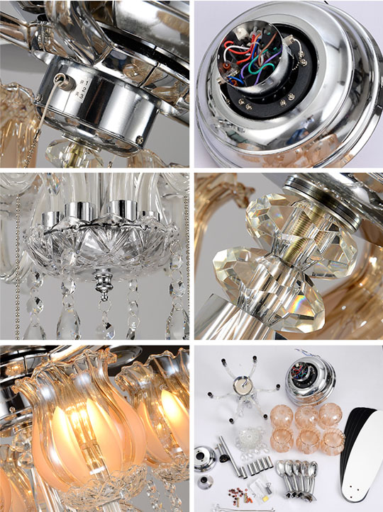 detail of Home appliances modern factory ceiling fan Lights
