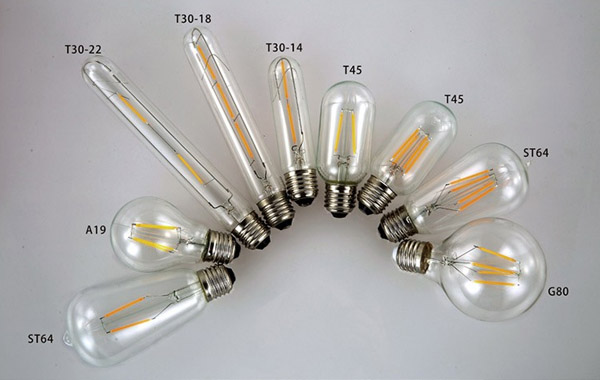 detail of Home decoration LED filament bulb