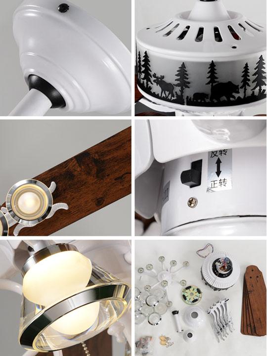 detail of Living room decorative ceiling fan lights
