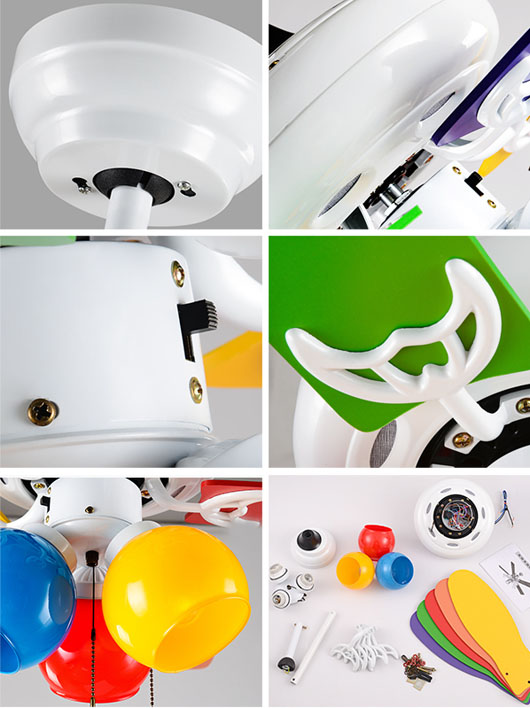 detail of National energy saving kids decorative ceiling fan
