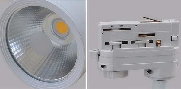 detail of Track lighting system dimmable 10W 20W 30W 40W 50W COB led track lights1