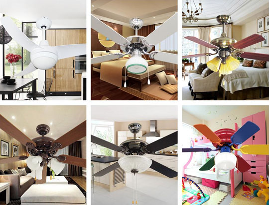 more picture of High quality multi-function decorative elegant style led ceiling fans