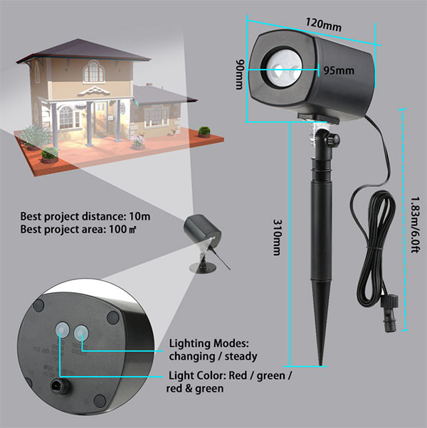 detail-of-Outdoor-lawn-light-Projector-IP65-Waterproof-Home-Party-Decoration
